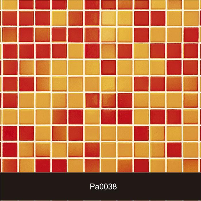 Papel de Parede Auto Adesivo Lavável Pastilha Pa0038 Amarela e Vermelha  - Final Decor