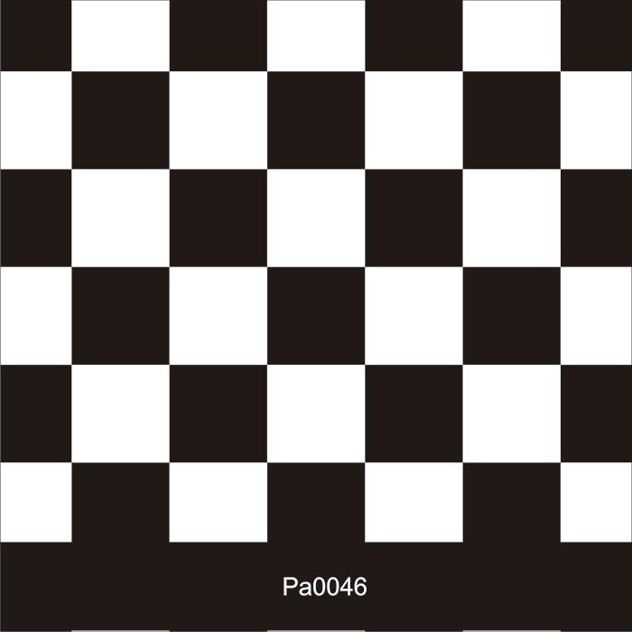 Papel de Parede Auto Adesivo Lavável Pastilha Preta e Branca  Pa0046  - Final Decor