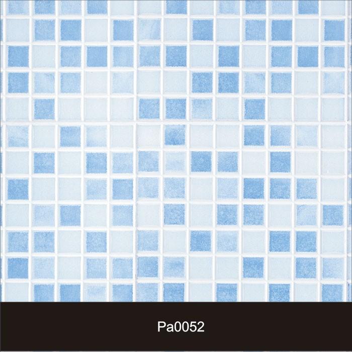 Papel de Parede Auto Adesivo Lavável Pastilha Pa0052 Azul Céu  - Final Decor