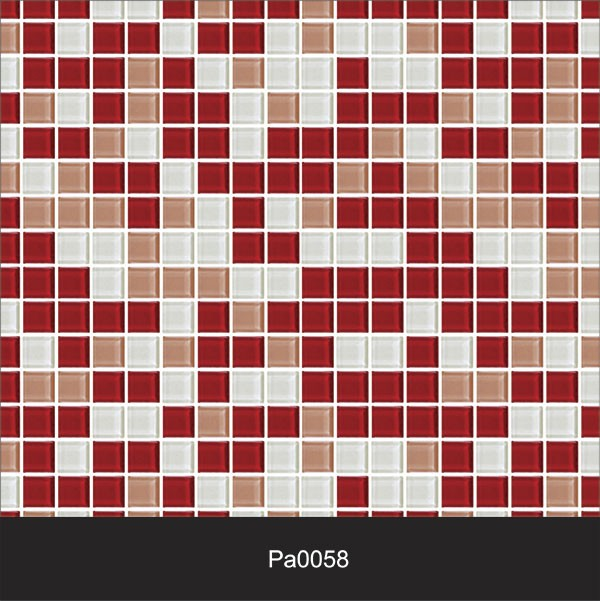 Papel de Parede Auto Adesivo Lavável Pastilha Pa0058 Vermelha e Branca  - Final Decor