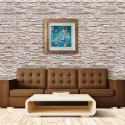 Papel de Parede Adesivo Lavável Pedra Canjiquinha Tijolo CPT0001