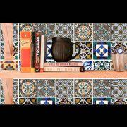 Papel de Parede Auto Adesivo Lavável Azulejo a0007