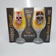 Conjunto 2 Taças de Chopp e Cerveja de Caveira - 340 Ml