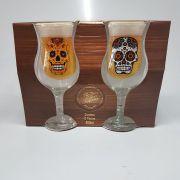 Conjunto 2 Taças de Chopp e Cerveja  de Caveira - 400 Ml