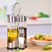 Galheteiro 5 Peças Vinagre Azeite Sal Completo Art House