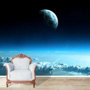 Papel de Parede Adesivo Espaço, Lua, Céu