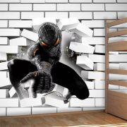 Papel de Parede Adesivo Homem Aranha Buraco Falso 3D