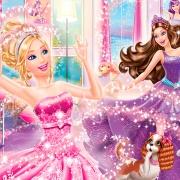 Papel De Parede Adesivo, Infantil Barbie 1X1