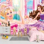 Papel De Parede Adesivo, Infantil Barbie