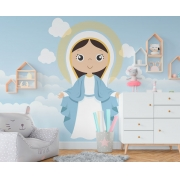 Papel De Parede Adesivo, Infantil Maria Bebê 1X1