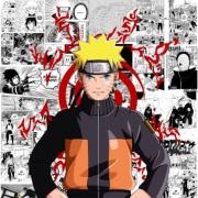 Papel de Parede Adesivo Infantil Naruto