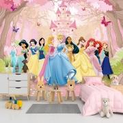 Papel de Parede Adesivo, Infantil Princesas Disney 1X1