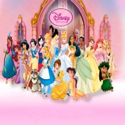 Papel de Parede Adesivo, Infantil Princesas Completo 1X1