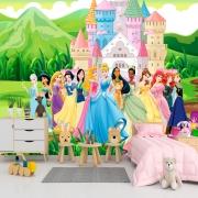 Papel de Parede Adesivo, Infantil Princesas Jardim 1X1