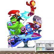 Papel de Parede Adesivo Infantil Vingadores Avengers Desenho