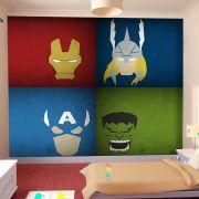 Papel de Parede Adesivo Infantil Vingadores Avengers