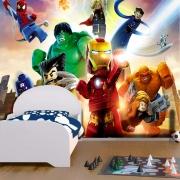 Papel De Parede Adesivo Vingadores Lego Quarteto Fantástico 1X1