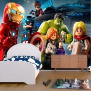Papel De Parede Adesivo Vingadores Marvel Lego 1X1