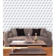 Papel de Parede Auto Adesivo Lavável Abstrato Revestimento 3d Branco AB0030
