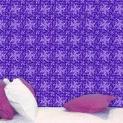 Papel de Parede Auto Adesivo Lavável Abstrato Vintage Violeta AB0063