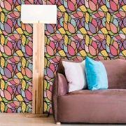 Papel de Parede Auto Adesivo Lavável Abstrato Mosaico Colorido AB0064