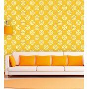 Papel de Parede Auto Adesivo Lavável Abstrato Círculos Amarelos AB0074