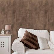 Papel de Parede Auto Adesivo Lavável Cimento Queimado C0002 Marrom Escuro