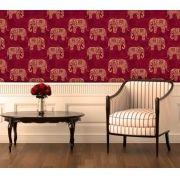 Papel de Parede Auto Adesivo Lavável Diversos Elefante da Sorte D0042