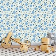 Papel de Parede Auto Adesivo Lavável Diversos d0086 Bolha Azul