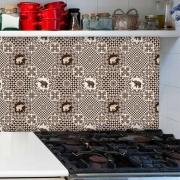 Papel de Parede Auto Adesivo Lavável Diversos Elefantes de Cozinha D0070