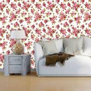 Papel de Parede Adesivo Lavável Floral Botões de Rosa F0052