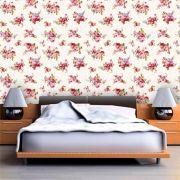 Papel de Parede Adesivo Lavável f0057 Floral Vintage Claro