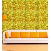Papel de Parede Adesivo Lavável f0097 Floral Rabisco