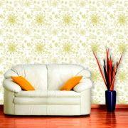 Papel de Parede Adesivo Lavável Floral Verde Claro F0099