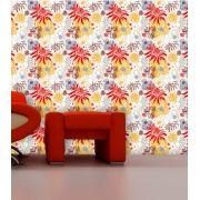 Papel de Parede Adesivo Lavável Floral Tropicalia F0126