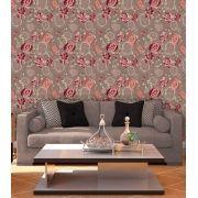 Papel de Parede Adesivo Lavável f0136 Floral Mosaico