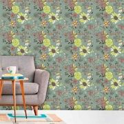 Papel de Parede Adesivo Lavável f0144 Floral Estatico