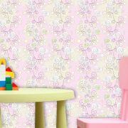 Papel de Parede Adesivo Lavável f0145 Floral Coração Rosa