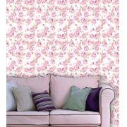 Papel de Parede Adesivo Lavável Floral Violeta Claro F0154