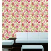 Papel de Parede Adesivo Lavável Floral Rosas F0159