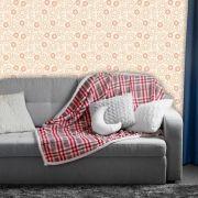 Papel de Parede Adesivo Lavável Floral Clássico Claro F0170