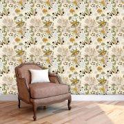 Papel de Parede Adesivo Lavável Floral Retrô F0177