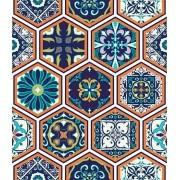 Papel de Parede Auto Adesivo Lavável Azulejo AP0026