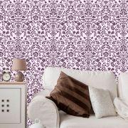 Papel de Parede Lavável Clássico Arabesco Violeta CA0012