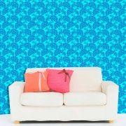 Papel de Parede Lavável Clássico Arabesco Azul CA0029