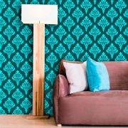 Papel de Parede Lavável Clássico Arabesco ca0049 Verde Tiffany