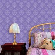 Papel de Parede Lavável Clássico Arabesco ca0077 Violeta