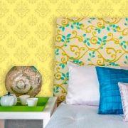 Papel de Parede Lavável Clássico Arabesco ca0081 Amarelo Sol