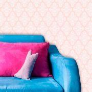 Papel de Parede Lavável Clássico Arabesco Rosa Claro CA0088
