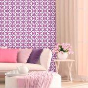 Papel de Parede Lavável Clássico Arabesco ca0101 grade roxo